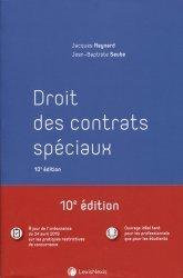 Dernières parutions dans Manuel, Droit des contrats spéciaux. 10e édition