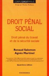Dernières parutions dans Corpus Droit Privé, Droit pénal social. Droit pénal du travail et de la sécurité sociale, 4e édition