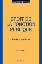 Dernières parutions sur Fonction publique, Droit de la fonction publique, 5e éd.