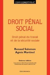 Dernières parutions sur Autres ouvrages de droit pénal, Droit pénal social