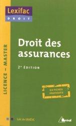 Nouvelle édition Droit des assurances. 2e édition