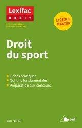 Dernières parutions sur Droit du sport, Droit du sport