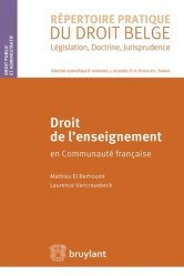 Dernières parutions dans Répertoire pratique du droit belge, Droit de l'enseignement en Communauté française