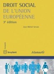 Dernières parutions sur Droit social européen, Droit social de l'Union européenne. 3e édition