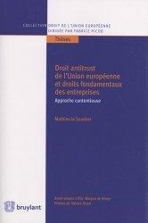 Dernières parutions sur Droit européen des affaires, Droit antitrust de l'Union européenne et droits fondamentaux des entreprises
