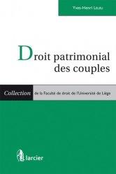 Dernières parutions dans Faculté de droit de l'Université de Liège, Droit patrimonial des couples