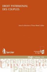 Dernières parutions dans Commission Université-Palais, Droit patrimonial des couples
