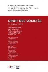 Dernières parutions sur Droit des sociétés, Droit des sociétés. 5e édition
