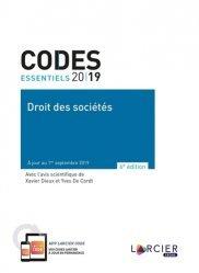 Nouvelle édition Droit des sociétés. Edition 2019