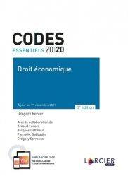 Dernières parutions sur Autres ouvrages de droit des affaires, Droit économique. Edition 2020