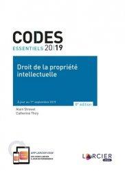 Dernières parutions sur Propriété littéraire et artistique, Droit de la propriété intellectuelle. Edition 2019