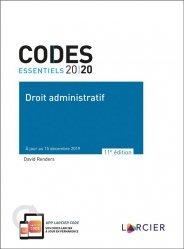 Dernières parutions sur Droit administratif général, Droit administratif. A jour au 15 décembre 2019, Edition 2020