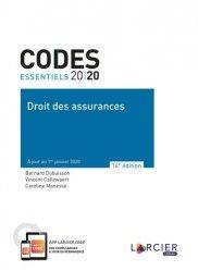 Dernières parutions sur Assurances, Droit des assurances. Edition 2020
