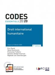 Dernières parutions sur Droit international public, Droit international humanitaire. Edition 2020