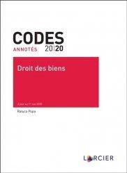 Dernières parutions sur Droit des biens, Droit des biens. A jour au 1er mai 2020, Edition 2020