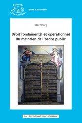 Dernières parutions dans Pour Ainsi Dire, Droit fondamental et opérationnel du maintien de l'ordre public
