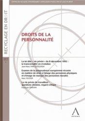Dernières parutions dans Recyclage en droit, Droits de la personnalité majbook ème édition, majbook 1ère édition, livre ecn major, livre ecn, fiche ecn