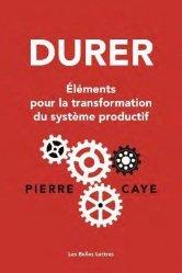 Dernières parutions sur Économie et politiques de l'écologie, Durer