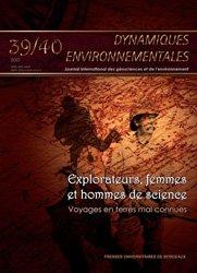 Nouvelle édition Dynamiques environnementales N° 39-40