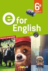 Dernières parutions dans E for English 2016 - 2017, E for English 6e : Livre