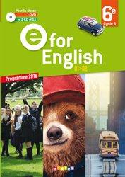 Dernières parutions dans E for English 2016 - 2017, E for English 6e : Coffret Classe 2 - CD Audio + 1 DVD