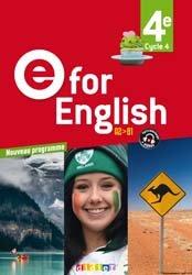 Dernières parutions dans E for English 2016 - 2017, E for English 4e (éd. 2017) : Livre