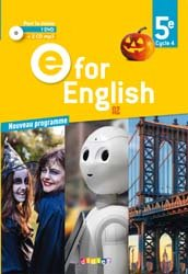 Dernières parutions dans E for English 2016 - 2017, E for English 5e (éd. 2017) : Coffret Classe 2 CD Audio + 1 DVD