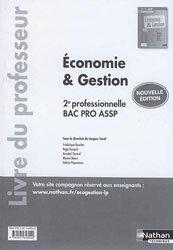Dernières parutions sur Bac ASSP, Economie et gestion -  2de professionnelle, bac pro ASSP 2017