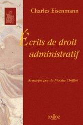 Dernières parutions dans bibliothèque dalloz, Ecrits de droit administratif