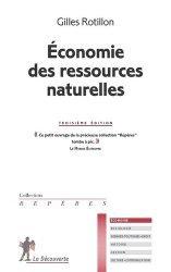 Nouvelle édition Economie des ressources naturelles