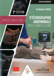 Dernières parutions dans Vade-mecum, Échographie abdominale chez le chien et le chat