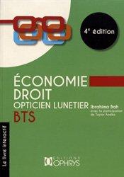 Dernières parutions sur Opticien, Economie - Droit BTS opticien lunetier