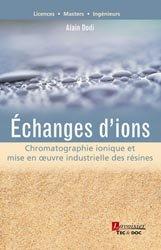 Dernières parutions sur Chimie analytique, Échanges d'ions