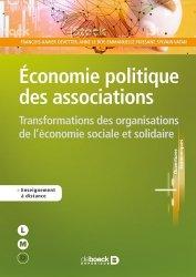 Dernières parutions sur Associations, Economie politique des associations. Transformations des organisations de l'économie sociale et solidaire