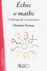 Dernières parutions dans Pédagogie formation, Echec et maths / l'éclairage des neurosciences