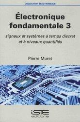 Dernières parutions dans Électronique, Électronique fondamentale 3