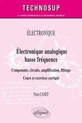 Dernières parutions dans Technosup, Électronique analogique basse fréquence