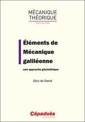 Dernières parutions sur Mécanique, Eléments de mécanique galiléenne