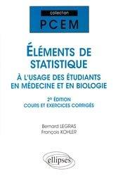 Souvent acheté avec Atlas de poche de génétique, le Eléments de statistique à l'usage des étudiants en Médecine et en Biologie