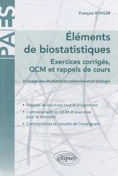 Dernières parutions dans PAES, Éléments de biostatistiques