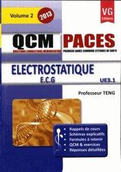 Dernières parutions dans QCM PACES, Électrostatique UE 3.1 - Vol 2