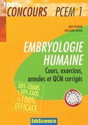 Souvent acheté avec Génétique, le Embryologie humaine