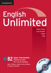 Dernières parutions dans English Unlimited, English Unlimited Upper Intermediate A and B - Teacher's Pack : Teacher's Book with DVD-ROM