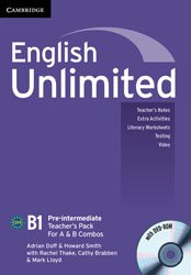 Dernières parutions dans English Unlimited, English Unlimited Pre-intermediate A and B - Teacher's Pack : Teacher's Book with DVD-ROM