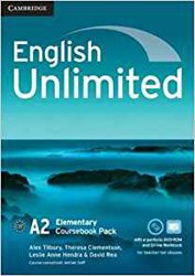 Dernières parutions dans English Unlimited, English Unlimited, Elementary - Coursebook with e-Portfolio and Online Workbook Pack