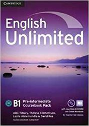 Dernières parutions dans English Unlimited, English Unlimited, Pre-intermediate - Coursebook with e-Portfolio and Online Workbook Pack