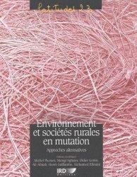 Dernières parutions dans Latitudes 23, Environnement et sociétés rurales en mutation Approches alternatives