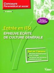 Souvent acheté avec Annales corrigées IFSI, le Entrée en IFSI Épreuve écrite de culture générale