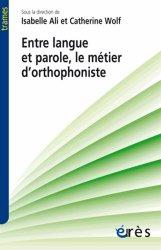 Dernières parutions dans Trames, Entre langue et parole, le métier d'orthophoniste