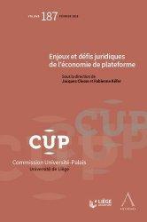 Dernières parutions dans Commission Université-Palais, Enjeux, défis juridiques de l'économie de plateforme